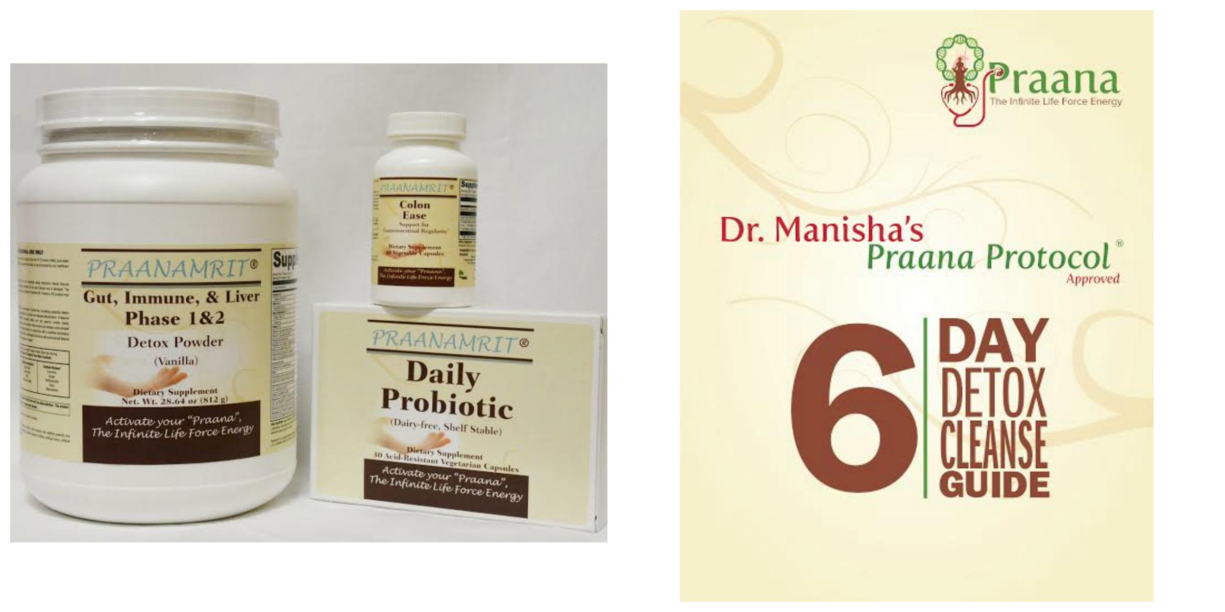 Dr  Manisha's Praana Protocol® approved 6 day Detox Cleanse Kit 1